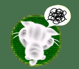 Pretty soft and fluffy cat. sticker #8152793