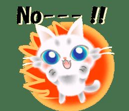 Pretty soft and fluffy cat. sticker #8152796
