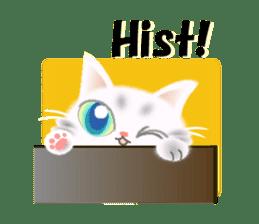 Pretty soft and fluffy cat. sticker #8152797