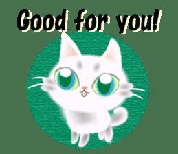 Pretty soft and fluffy cat. sticker #8152799