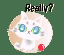 Pretty soft and fluffy cat. sticker #8152800