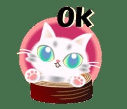 Pretty soft and fluffy cat. sticker #8152801