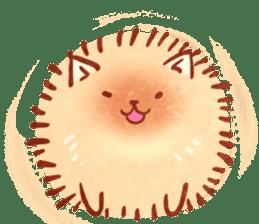 Cute fluffy Pomeranian sticker #8154004