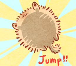 Cute fluffy Pomeranian sticker #8154007