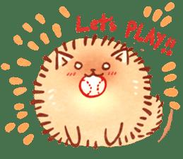 Cute fluffy Pomeranian sticker #8154011