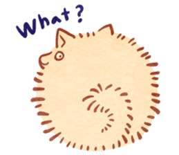 Cute fluffy Pomeranian sticker #8154016
