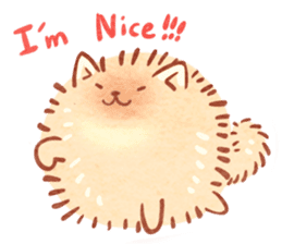 Cute fluffy Pomeranian sticker #8154020