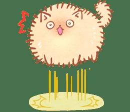 Cute fluffy Pomeranian sticker #8154039
