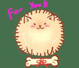 Cute fluffy Pomeranian sticker #8154040