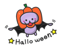 small bat and halloween sticker #8161085