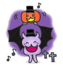small bat and halloween sticker #8161086