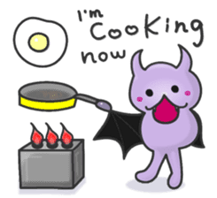 small bat and halloween sticker #8161095