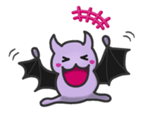 small bat and halloween sticker #8161098