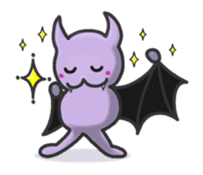 small bat and halloween sticker #8161099