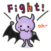 small bat and halloween sticker #8161106