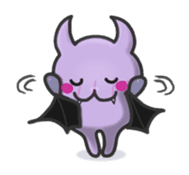 small bat and halloween sticker #8161107