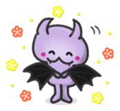 small bat and halloween sticker #8161111