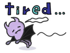 small bat and halloween sticker #8161116