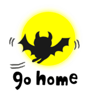small bat and halloween sticker #8161118
