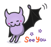 small bat and halloween sticker #8161120