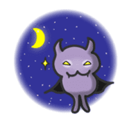 small bat and halloween sticker #8161123