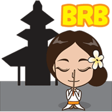 The Funny girl from Bali sticker #8171927