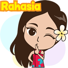 The Funny girl from Bali sticker #8171950