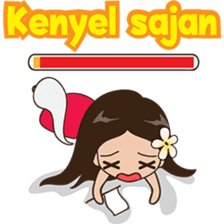 The Funny girl from Bali sticker #8171956