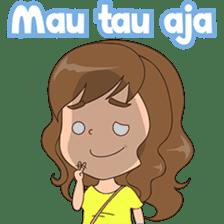 Fun girl from Pontianak sticker #8172508