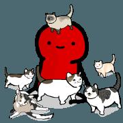 สติ๊กเกอร์ไลน์ แมว 11 ตัวของเรด