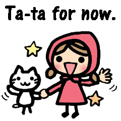 British Englsih with girl and cat