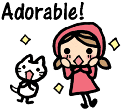 British Englsih with girl and cat sticker #8180334