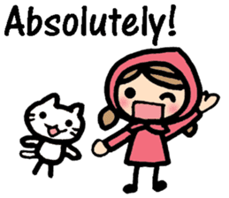 British Englsih with girl and cat sticker #8180336
