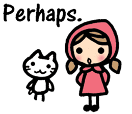 British Englsih with girl and cat sticker #8180337