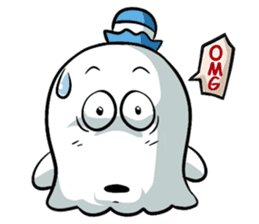 Ghossi (The small ghost) sticker #8187172