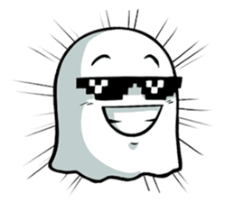 Ghossi (The small ghost) sticker #8187176