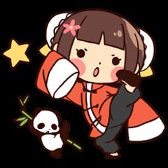 China Girl & Miniature panda