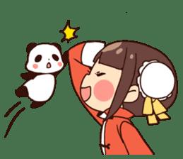 China Girl & Miniature panda sticker #8190150