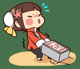 China Girl & Miniature panda sticker #8190152