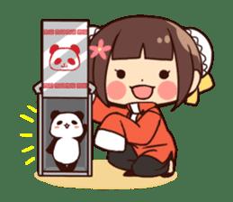 China Girl & Miniature panda sticker #8190153