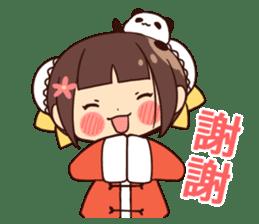 China Girl & Miniature panda sticker #8190155