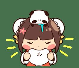China Girl & Miniature panda sticker #8190158