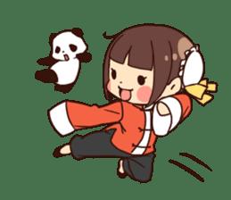 China Girl & Miniature panda sticker #8190159