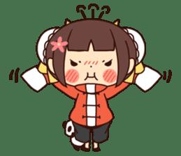 China Girl & Miniature panda sticker #8190160