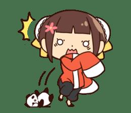 China Girl & Miniature panda sticker #8190161