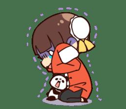 China Girl & Miniature panda sticker #8190162