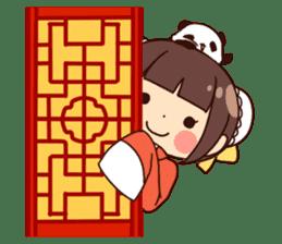 China Girl & Miniature panda sticker #8190166