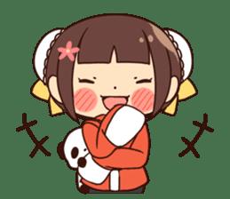 China Girl & Miniature panda sticker #8190171