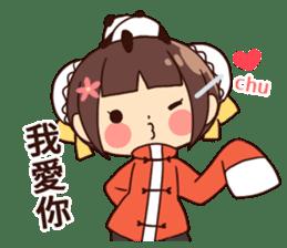 China Girl & Miniature panda sticker #8190172