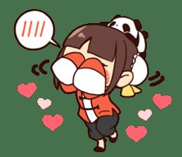 China Girl & Miniature panda sticker #8190174